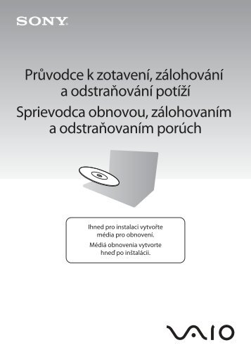 Sony VPCEB2E4E - VPCEB2E4E Guide de dépannage Tchèque