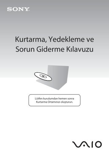 Sony VPCEB2E4E - VPCEB2E4E Guide de dépannage Turc