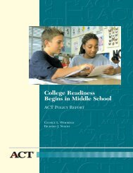 College Readiness Begins in Middle School - Faithwebsites