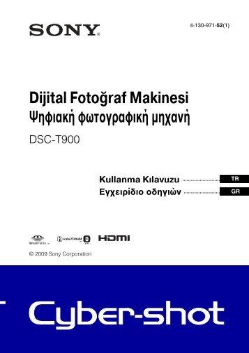 Sony DSC-T900 - DSC-T900 Consignes d'utilisation Turc