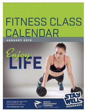 January 2018 Fitness Calendar