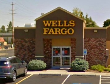 Wells Fargo Bank and ATM N Monroe St near Spokane dentist Max H. Molgard Jr, DDS, FACP