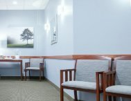 Waiting lounge at the family dentistry office of Max H. Molgard Jr, DDS, FACP