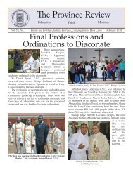 The Province Review - Congregation of Holy Cross, United States ...