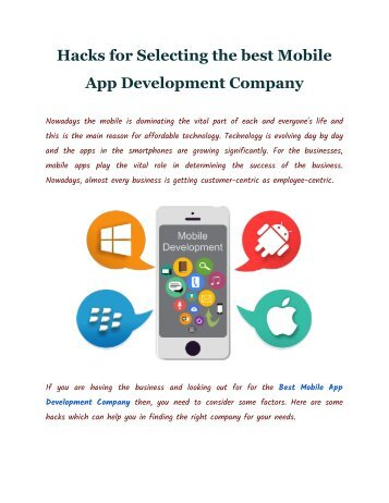 Mobile App Development Company | FineSoft Technologies