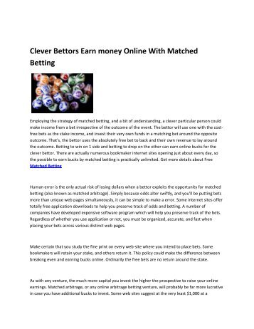 8 Learn Matched Betting