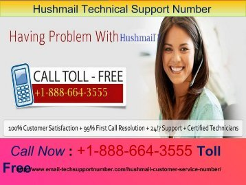 Hushmail Tech Support Number +1-888-664-3555