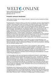 Proteste verteuern Neubauten - Hamburg Team