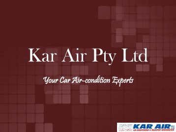 Car air conditioning service Melbourne | Kar Air Pty Ltd