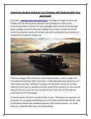 Andaman tour operator
