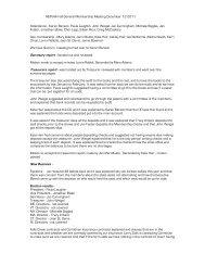 Fall General Membership Meeting Minutes - New England Pinto ...
