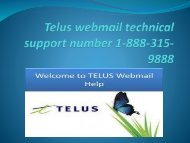 Telus wemail tech support number 1-888-315-9888