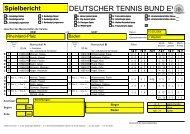 Spielbericht - Deutscher Tennis Bund