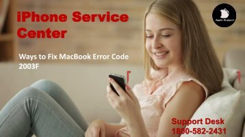 Fix MacBook Error Code 2003F