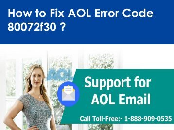AOL Mail Error Code 80072f30 call 1-888-909-0535 Support Number