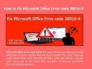 1-888-909-0535 how to Fix Microsoft Office Error code 30016-4