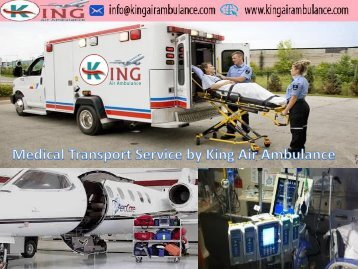 Hi-Tech King Air Ambulance Services from Patna to Delhi with ICU Facility