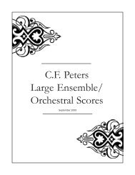 Full Scores - Peters Edition Ltd