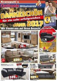 Dankeschön für ein sehr erfolgreiches Jahr! Kranepuhl's optimale Möbelmärkte in Bad Belzig, Brandenburg, Rathenow