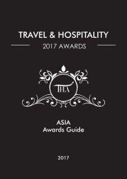 Travel & Hospitality Awards | Asia 2017 | www.thawards.com