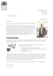 Design Brief Letter