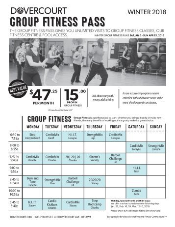 Dovercourt Winter 2018 Group fitness