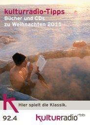 kulturradio-Tipps - Verlag für Berlin-Brandenburg