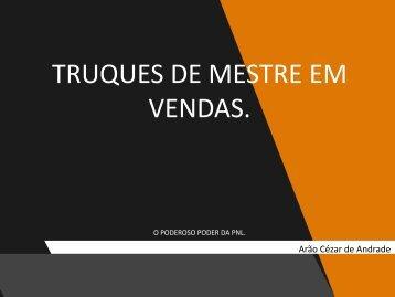 TRUQUES DE MESTRES EM VENDAS PDF