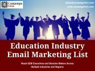 Education Industry Email Marketing List   School, Colleges Email List