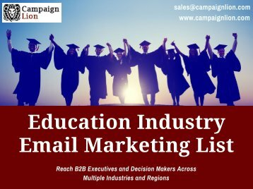 Education Industry Email Marketing List | School, Colleges Email List