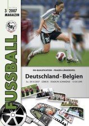 Ausgabe III / 2007 - Schleswig-Holsteinischer Fussballverband eV