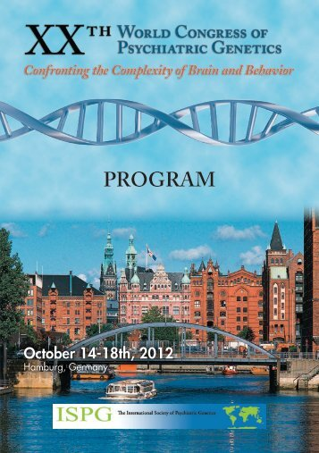 XXIst World Congress of Psychiatric Genetics October 17-21, 2013 ...