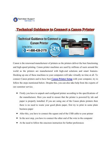 Technical Guidance to Connect a Canon Printer