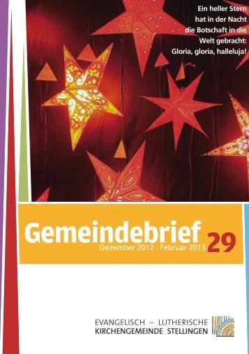 Gemeindebrief 19 Gemeindebrief 29 - Evangelisch-Lutherische ...