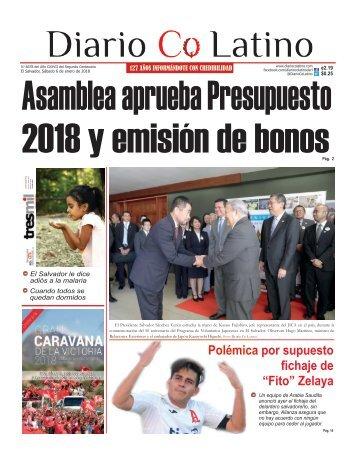 Edición 06 de enero de 2018