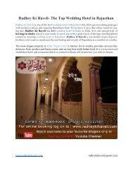 Radhey Ki Haveli- The Top Wedding Hotel in Rajasthan