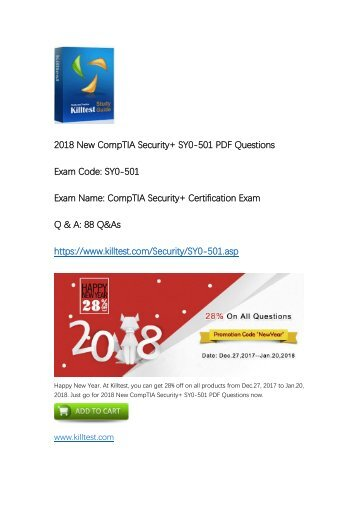CompTIA Security+ SY0-501 Practice Exam