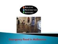 Emergency flood in Melbourne