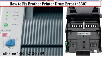 Fix Brother Printer Drum Error tn330 by dialing 1-800-213-8289