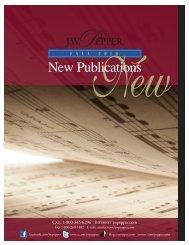 New Pubs Fall Cat 2010:Late Fall Choral Cat. 2004 - JW Pepper