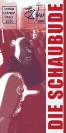 Spielplan 1/2003 - Schaubude