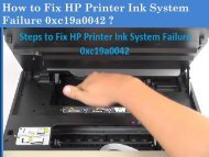 1-800-576-9647 How to Fix HP Printer Ink System Failure 0xc19a0042