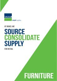 Bunzl retail supplies furniture catalogue