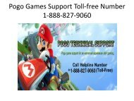 Pogo Games Customer Support Toll-free Number 1-888-827-9060
