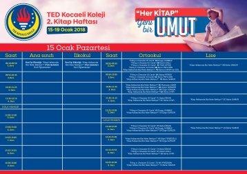 TED Kocaeli Koleji 2. Kitap Haftası