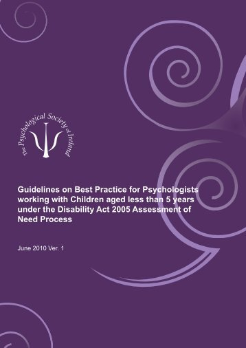 Guidelines on Best Practice for Psychologists working with Children ...