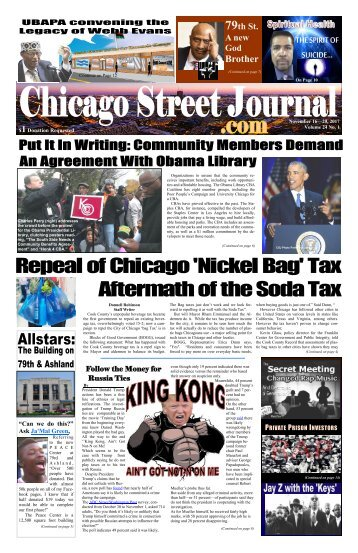 Put It In Writing - Chicago Street Journal for November 16, 2017