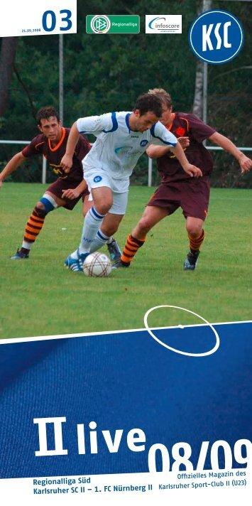 Liebe Fans des KSC II - Karlsruher SC
