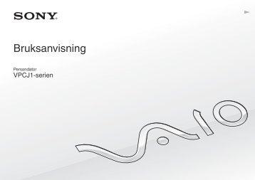 Sony VPCJ12L0E - VPCJ12L0E Mode d'emploi Suédois