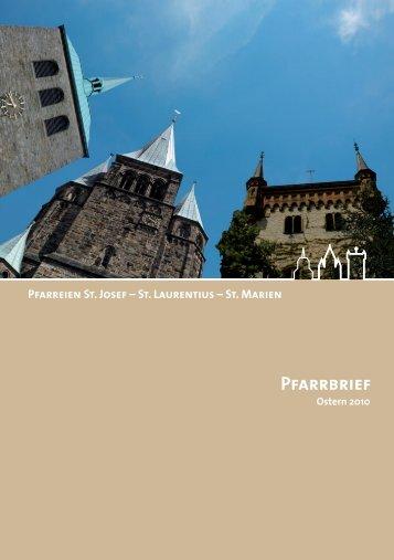 Pfarrbrief - Kath. Kirchengemeinde St. Laurentius in Warendorf